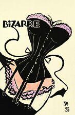 VINTAGE 1940'S BIZARRE FETISH  MAGAZINE COVER VOLUME 25 ART A3 POSTER RE PRINT