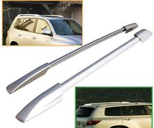 For  08-13 Toyota Highlander Roof Rack Side Rails Bar Silver OE Style Pair Set