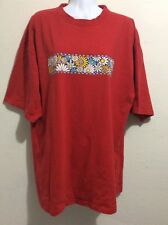 Pluma Womens XL Red T Shirt Daisies