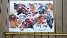 JOSH BROOKES HAND SIGNED HONDA MOTORCYCLE RACING TEAM POSTER