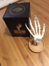 Skeleton Hand Jewellery / Ring Display Stand With Box