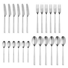Stelton Chaco Cutlery Set, 24 pieces, Table Cutlery, 18/8 Stainless Steel, Satin Polished
