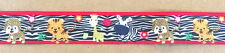"ZEBRA BABY ANIMALS 1"" Grosgrain Ribbon By the yard for Scrapbooking Hair Bows"