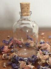 20 WEDDING FAVOUR BOTTLES  Mini empty Glass demijohn bottles  50ml cork stopper