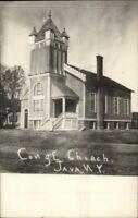 Java NY Wyoming County Church c1910 Real Photo Postcard