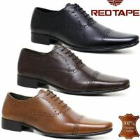 Mens Leather Lace Up Brogues Shoes Formal Smart Casual Office Dress Shoes Sizes