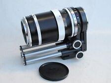 RARE Zeiss Ikon Contarex 115mm f:3.5 Tessar lens with Bellows and cap, NICE LQQK