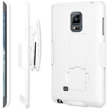 AMZER Shellster™ with Kickstand - White For Samsung GALAXY Note Edge SM-N915F