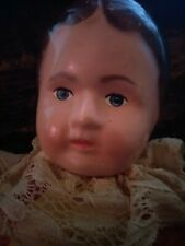 """Antique Baby Doll 1800s1900s1920s Germany 14"""" Blue Eyes creepy physic haunted?"""