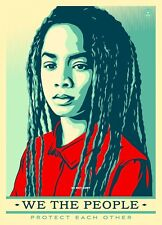 A4 GLOSSY PHOTO SHEPARD FAIREY WE THE PEOPLE USA WOMENS MARCH PRINT POSTER #1C