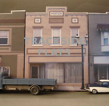 #329 O scale background building flat  PORTER BUILDING   *FREE SHIPPING*