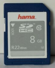 Hama 8GB SD/SDHC class 10 memory card.