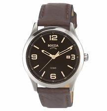Boccia Titanium 3624-01 Uhr Titan Herren Uhr Armbanduhr Leder braun oder 3583-01