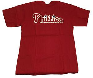 Philadelphia Phillies MLB Baseball T Shirt Size Large Red Majestic 100% Cotton