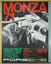 1971 Porsche 917 911S 914-6  Monza Genuine Factory Poster Original
