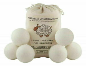 1/3/6X Wool Tumble Dryer Balls 6cm Natural Reusable Laundry Clean Practical Home
