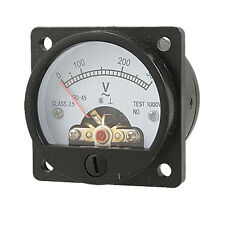 Hot Sale! Black AC 0-300V Round Analog Dial Panel Meter Voltmeter Gauge BTSZUK