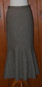 M/&s Collection Noir Queue de Poisson Midi Jupe Taille UK 10 EUR 38 BNWT