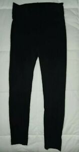 Girls Charlotte Russe black stretch cotton blend elastic waist Capri leggings M