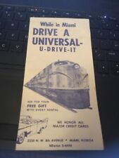 1950s Car Rental Brochure: Universal-U-Drive-it of Miami Florida pamphlet