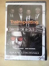 DVD Trainspotting,Ewan McGregor y El Gran Lebowshi,Jeff Briges (precintado)