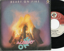 ALBERT ONE raro disco 45 giri STAMPA ITALIANA Heart on fire  MADE IN ITALY 1985