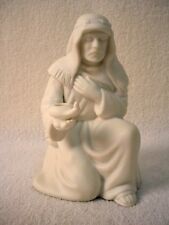 AVON china ALL WHITE NATIVITY Figurine INNKEEPER with LAMP