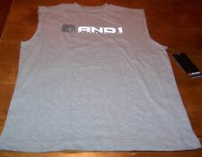 AND1 BASKETBALL SLEEVELESS T-Shirt JERSEY GRAY SMALL NEW w/ TAG