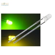 10 LED bi-pol 3mm difusa verde amarillo duo-leds BI-COLOR