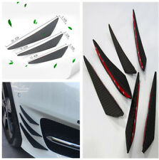 Carbon Fiber Style Auto Front Bumper Lip Splitter Fins Body Spoiler Canard Kit