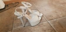 New Out Of Box Size 8 Pleasers Beige Sandal Sexy Stripper
