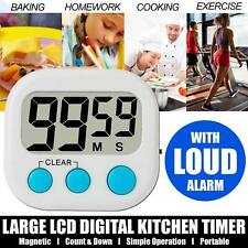 Digital Large LCD Kitchen Cooking Timer Count Egg Down Clock Alarm Stopwatch