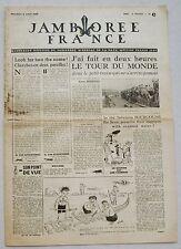 Jamborée France 6 - 21 Aout 1947 ; Journal N° 3 du 08 Août  Scouts P JOUBERT