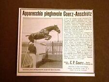 Pubblicità d'Epoca Collezionisti Obbiettivo fotografico Goerz Anschutz Cavallo