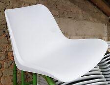 1 neue Sitzschale für Helmut Starke Designer Stuhl EUROPA - weiß/grau