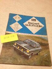 Revue Technique Expert Automobile Opel Kadett 1100 Rallye  éd. 70