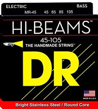 DR MR-45 4 string HI-Beams Bright Stainless Steel Bass Guitar Strings 45-105 MED