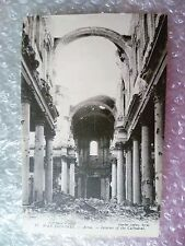 Postcard ARRAS- AFTER the Bombardment in World War 1914-1916 Cathedral Interior