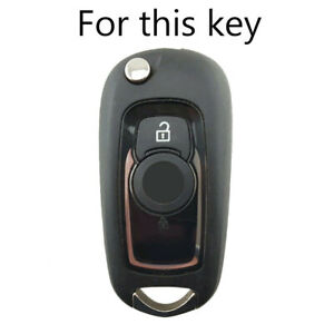 For Vauxhall Astra K Corsa E Fob Sleeve Silicone Flip Key Cover Remote Case