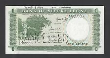 Sierra Leone One Leone ND(1964) P1as Specimen Perforated Uncirculated