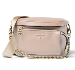 ❤️ Michael Kors Slater Sling Soft Pink/Gold Pack Messenger