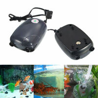 2 Air Bubble Disk Stone Aerator Aquarium Fish Tank Pond Pump Hydroponic Oxygen