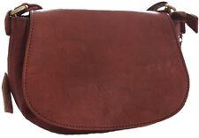 Sac sacoche bandoulière en cuir neuf de qualité léger et original marron foncé