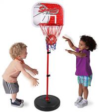 NEW Basketball Set Kids Hoop Goal Oversized Toddler Adjustable Height Up To 4 ft