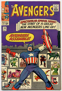 Avengers 16 VF+ 8.5 New Team Scarlet Witch Hawkeye 1965 Jack Kirby cover