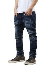 Pi Mens Slim Fit Jeans SKINNY Washed Denim Premium Pants Casual Distressed 34x32 063.indigo Baked