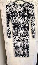 Top Shop Long Sleeved Animal Print Tube Dress Size 8