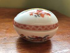 Bernardaud Limoges France Fou Tcheou trinket box porcelain egg 25 Easter gift