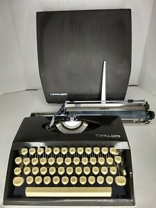 Vintage Antique Adler Tippa S Typewriter Portable With Cover Case