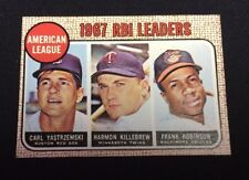 1968 Topps Baseball #4 RBI Leaders YASTRZEMSKI KILLEBREW ROBINSON Beautiful